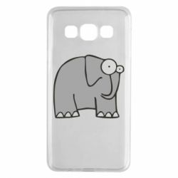 Чехол для Samsung A3 2015 удивленный слон - FatLine