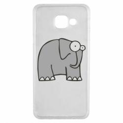 Чехол для Samsung A3 2016 удивленный слон - FatLine