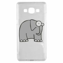 Чехол для Samsung A5 2015 удивленный слон - FatLine