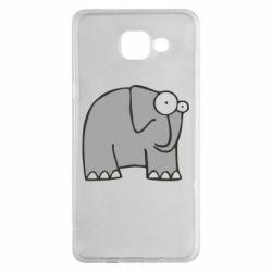 Чехол для Samsung A5 2016 удивленный слон - FatLine