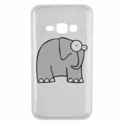 Чехол для Samsung J1 2016 удивленный слон - FatLine