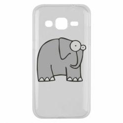 Чехол для Samsung J2 2015 удивленный слон - FatLine