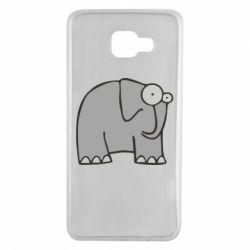 Чехол для Samsung A7 2016 удивленный слон - FatLine