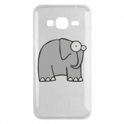 Чехол для Samsung J3 2016 удивленный слон - FatLine