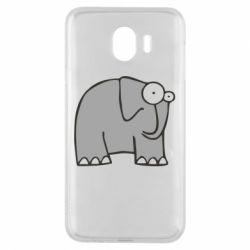Чехол для Samsung J4 удивленный слон - FatLine