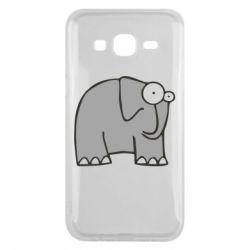 Чехол для Samsung J5 2015 удивленный слон - FatLine