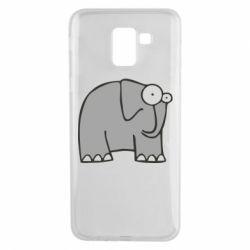 Чехол для Samsung J6 удивленный слон - FatLine