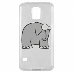 Чехол для Samsung S5 удивленный слон - FatLine