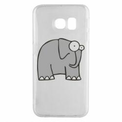Чехол для Samsung S6 EDGE удивленный слон - FatLine