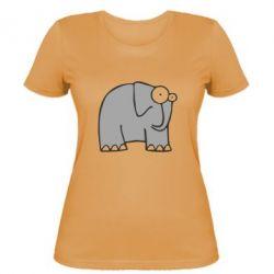 Жіноча футболка здивований слон - FatLine