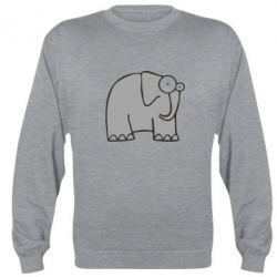 Реглан (свитшот) удивленный слон - FatLine
