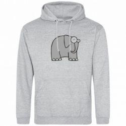 Толстовка удивленный слон - FatLine