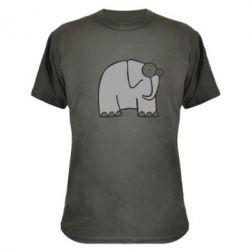 Камуфляжная футболка удивленный слон - FatLine