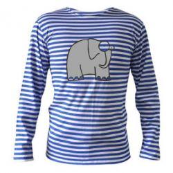 Тельняшка с длинным рукавом удивленный слон - FatLine