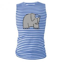 Майка-тельняшка удивленный слон - FatLine