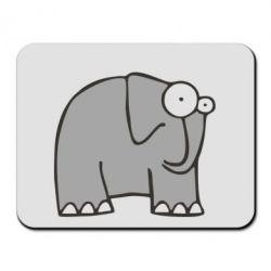 Коврик для мыши удивленный слон - FatLine