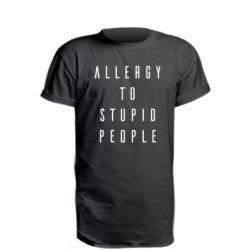 Подовжена футболка Allergy To Stupid People