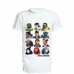 Подовжена футболка Apex legends heroes
