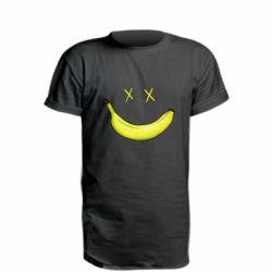 Удлиненная футболка Banana smile