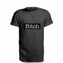 Удлиненная футболка Bitch glitch