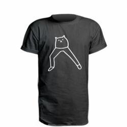 Подовжена футболка Cat in pants