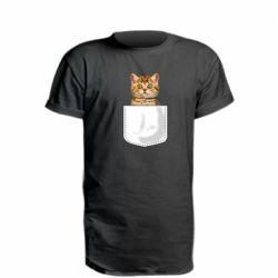 Удлиненная футболка Cat in your pocket