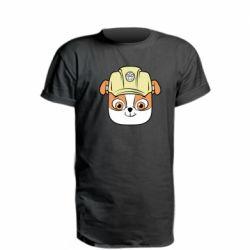 Подовжена футболка Dog in helmet