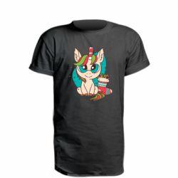 Подовжена футболка Єдиноріг З Цукерками