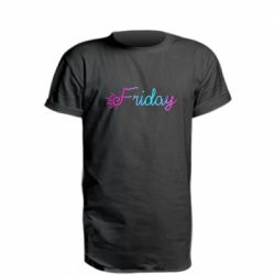 Удлиненная футболка Friday gradient