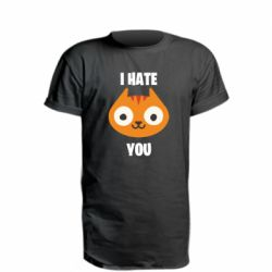 Подовжена футболка I hate you