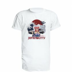 Подовжена футболка Japan Kitty