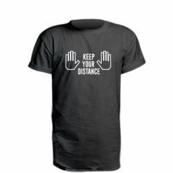 Подовжена футболка Keep your distance