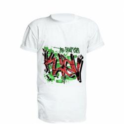 Удлиненная футболка Kiev graffiti