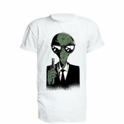 Подовжена футболка Люди в черном пародия