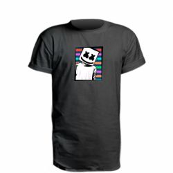 Удлиненная футболка Marshmello Colorful Portrait
