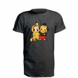 Удлиненная футболка Mickey and Pikachu