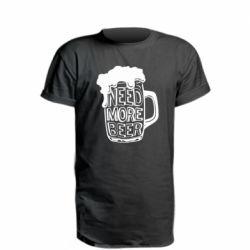 Подовжена футболка Need more beer