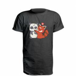 Подовжена футболка Panda and fire panda