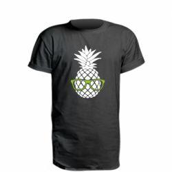 Удлиненная футболка Pineapple with glasses