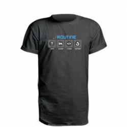 Подовжена футболка Routine code