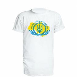 Подовжена футболка Україна Мапа