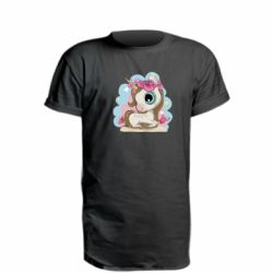 Подовжена футболка Unicorn with flowers