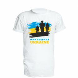 Подовжена футболка War veteran оf Ukraine