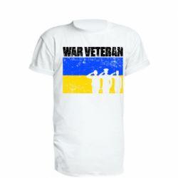 Подовжена футболка War veteran