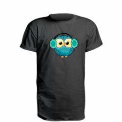 Удлиненная футболка Winter owl