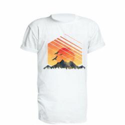 Подовжена футболка Захід Геометрія