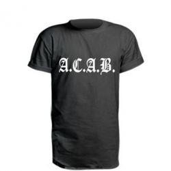 Подовжена футболка A.C.A.B