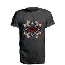 Удлиненная футболка AC/DC Art Logo