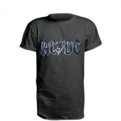 Удлиненная футболка AC/DC Logo