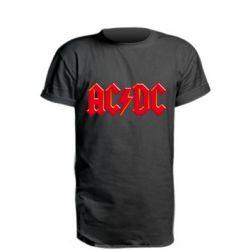 Удлиненная футболка AC/DC Red Logo
